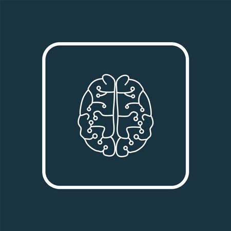 Neurobiology icon line symbol. Premium quality isolated brain element in trendy style. 向量圖像