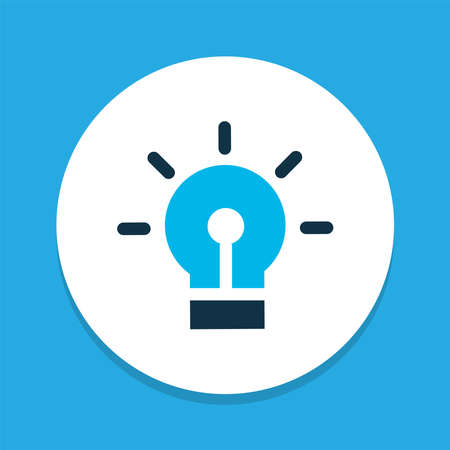 Idea icon colored symbol. Premium quality isolated bulb element in trendy style. 向量圖像