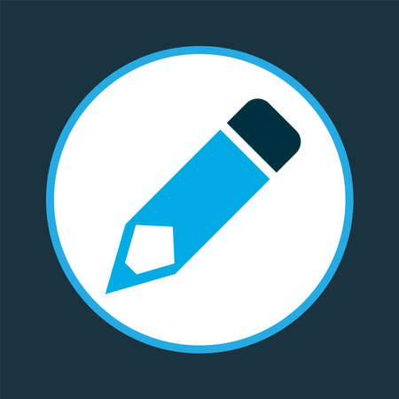 Edit icon colored symbol. Premium quality isolated pen element in trendy style. 向量圖像