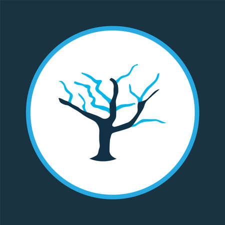 Tree icon colored symbol. Premium quality isolated wood element in trendy style.