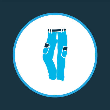 Trousers icon colored symbol. Premium quality isolated cargo pants element in trendy style.