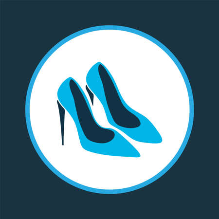 Pump shoes icon colored symbol. Premium quality isolated stiletto element in trendy style.