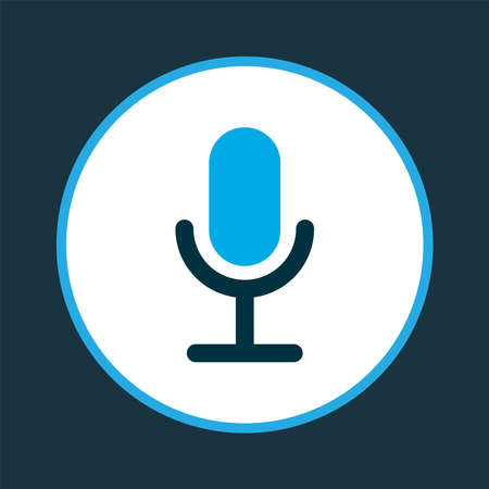 Video chat icon colored symbol. Premium quality isolated microphone element in trendy style. 스톡 콘텐츠