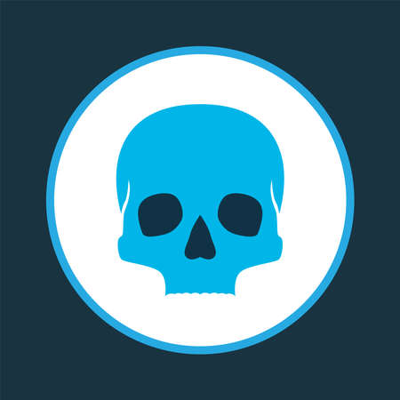 Skull icon colored symbol. Premium quality isolated cranium element in trendy style. Standard-Bild