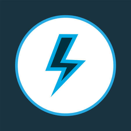 Lightning icon colored symbol. Premium quality isolated flash element in trendy style.