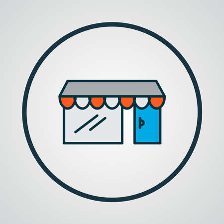 Storefront icon colored line symbol. Premium quality isolated shop element in trendy style.