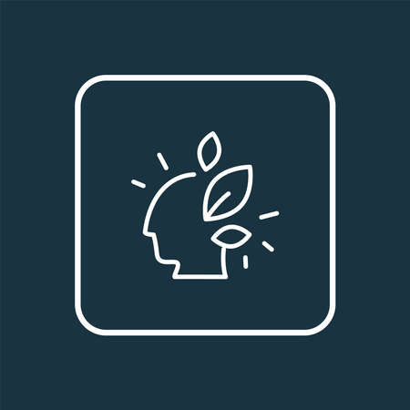 Think green icon line symbol. Premium quality isolated mind element in trendy style. Ilustrace