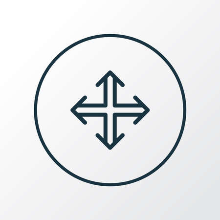 Navigation icon line symbol. Premium quality isolated direction element in trendy style.