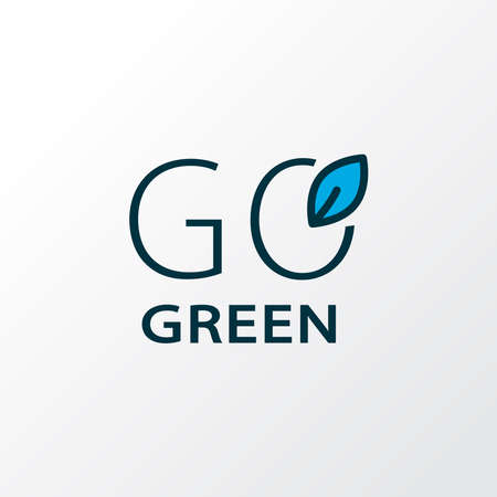 Go green icon colored line symbol. Premium quality isolated healthcare element in trendy style.