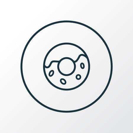 Donut icon line symbol. Premium quality isolated doughnut element in trendy style.