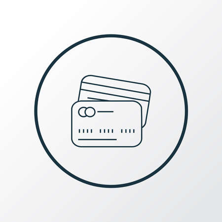 Card to card icon line symbol. Premium quality isolated transaction element in trendy style.