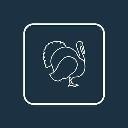 Turkey icon line symbol. Premium quality isolated gobbler element in trendy style.