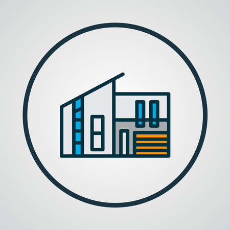 Modern house icon colored line symbol. Premium quality isolated real estate element in trendy style. Ilustrace