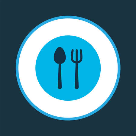 Cutlery icon colored symbol. Premium quality isolated silverware element in trendy style.