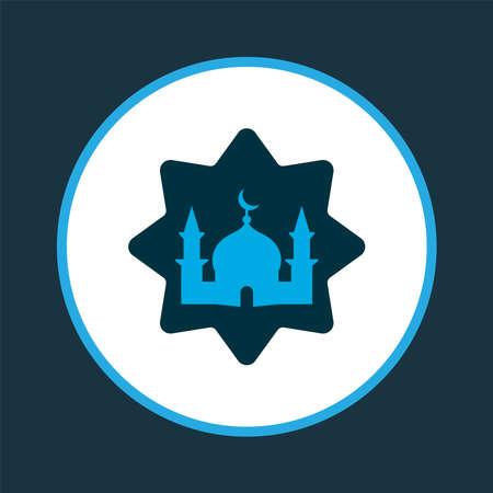 Masjid icon colored symbol. Premium quality isolated mosque element in trendy style. Ilustração