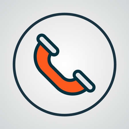 Call icon colored line symbol. Premium quality isolated phone element in trendy style.