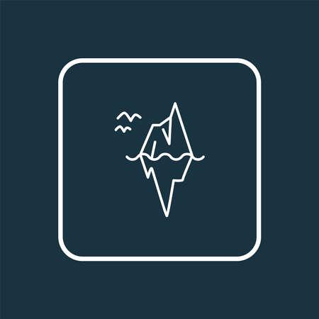 Iceberg icon line symbol. Premium quality isolated glacier element in trendy style. Ilustração