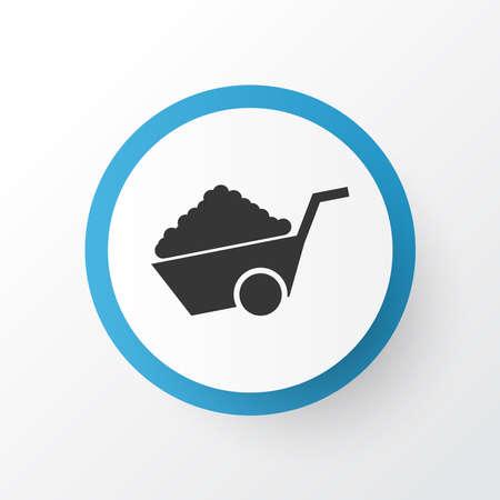 Construction wheelbarrow icon symbol. Premium quality isolated pushcart element in trendy style.