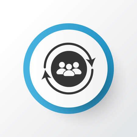 Team communication icon symbol. Premium quality isolated community element in trendy style.