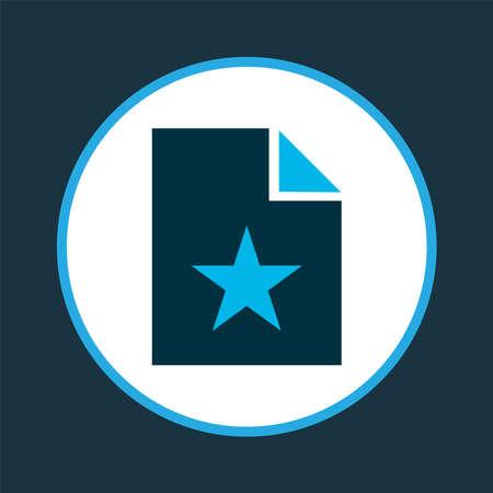 Favorite file icon colored symbol. Premium quality isolated special document element in trendy style. Ilustração