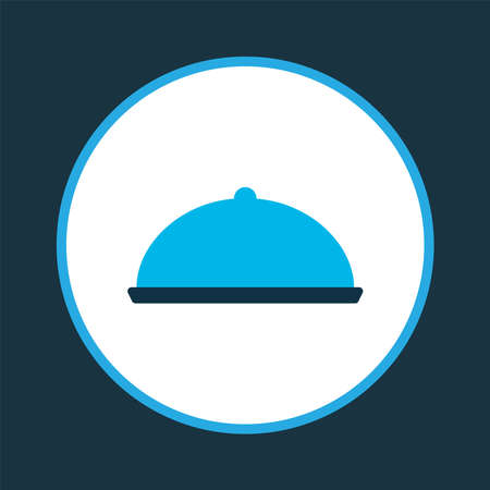 Food icon colored symbol. Premium quality isolated tray element in trendy style. Ilustração