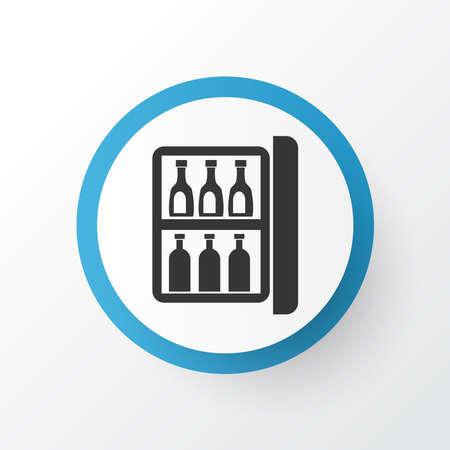 Minibar icon symbol. Premium quality isolated mini fridge element in trendy style.