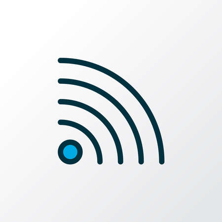 Wifi icon colored line symbol. Premium quality isolated wireless connection element in trendy style.