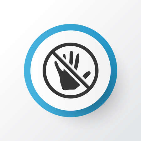 Caution icon symbol. Premium quality isolated stop element in trendy style.