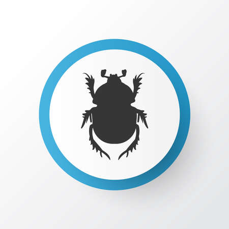 Beetle icon symbol. Premium quality isolated bug element in trendy style.