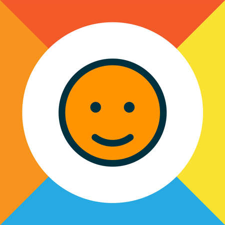 Emoji icon colored line symbol. Premium quality isolated smile element in trendy style.