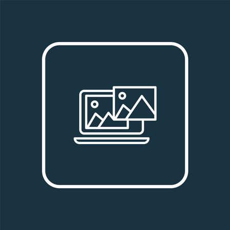 Photo content icon line symbol. Premium quality isolated website image element in trendy style.