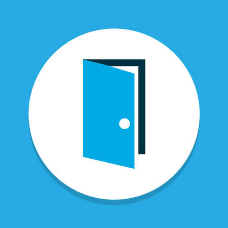 Door icon colored symbol. Premium quality isolated entrance element in trendy style.
