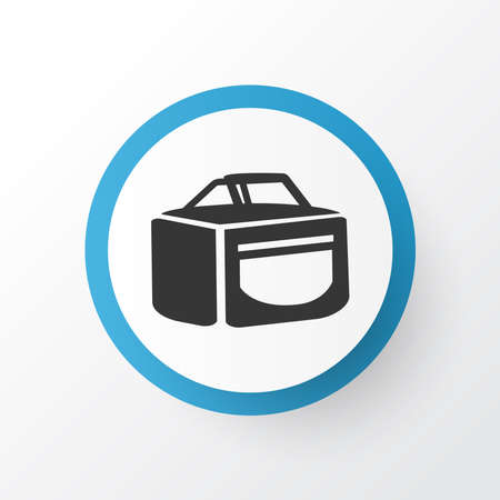 Travel bag icon symbol. Premium quality isolated luggage element in trendy style.
