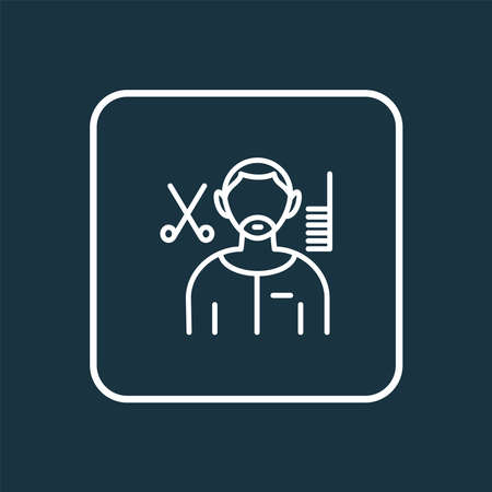 Hair stylist icon line symbol. Premium quality isolated barber element in trendy style.