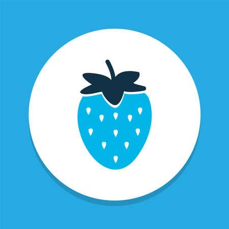 Strawberries icon colored symbol. Premium quality isolated fruit element in trendy style. Ilustração