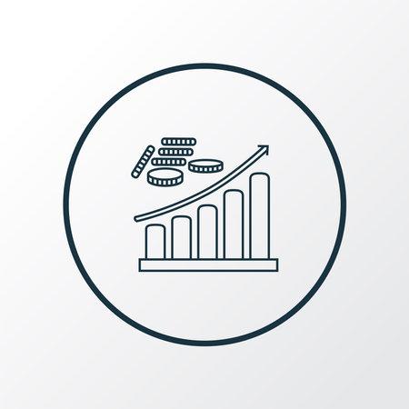 Profit icon line symbol. Premium quality isolated growth element in trendy style. Ilustração