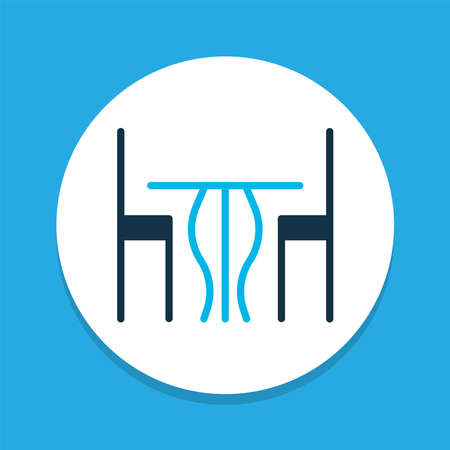 Table icon colored symbol. Premium quality isolated dining room element in trendy style.