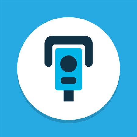Video control icon colored symbol. Premium quality isolated surveillance element in trendy style. Banco de Imagens