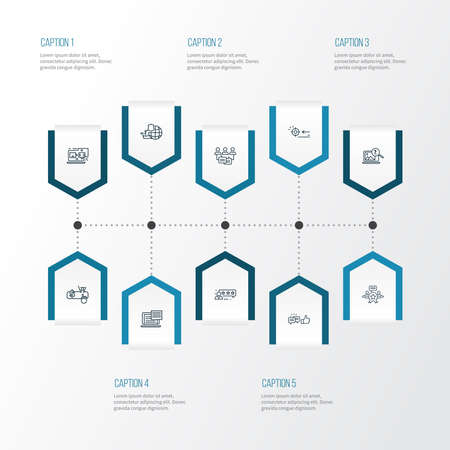 SEO icons line style set with network protection, text content, likes with comment and other aim elements. Isolated illustration SEO icons.