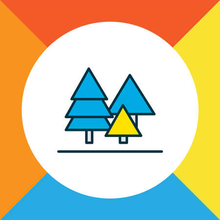 Forest icon colored line symbol. Premium quality isolated tree element in trendy style.
