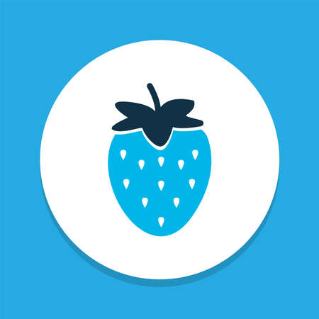 Strawberries icon colored symbol. Premium quality isolated fruit element in trendy style. Banco de Imagens