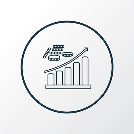 Profit icon line symbol. Premium quality isolated growth element in trendy style. Banco de Imagens