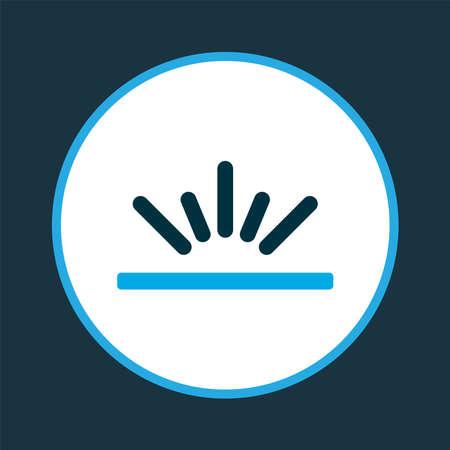 Fajr icon colored symbol. Premium quality isolated sunlight element in trendy style. Banco de Imagens