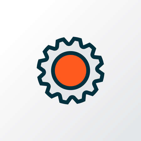 Settings icon colored line symbol. Premium quality isolated gear element in trendy style. Ilustração