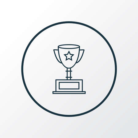 Award cup icon line symbol. Premium quality isolated championship element in trendy style.