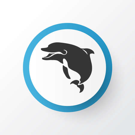 Dolphin icon symbol. Premium quality isolated fin element in trendy style.