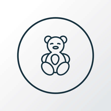 Teddy bear icon line symbol. Premium quality isolated soft toy element in trendy style.