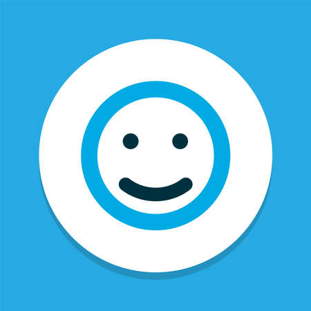 Emoji icon colored symbol. Premium quality isolated smile element in trendy style. Imagens