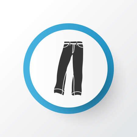 Denim icon symbol. Premium quality isolated jeans element in trendy style.