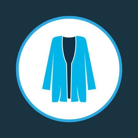 Cardigan icon colored symbol. Premium quality isolated overcoat element in trendy style.